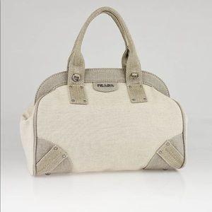 612909a0d85016 Authentic Prada Mistolino Satchel Bag
